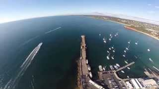 Mornington Pier Major Upgrade Open August 2015 Aerial Video
