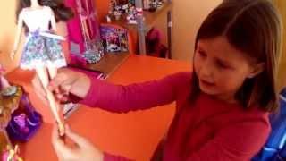 La muñeca de violetta con Nuria