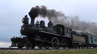 134 Year Old Prairie Dog Central Steam Train w/ Wooden Coaches and Caboose in Manitoba (5/15/2016)