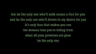 I'm The Only One - Melissa Etheridge Lyrics [on screen]