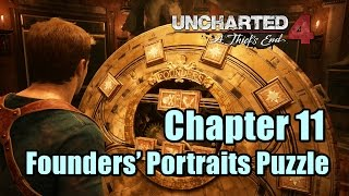 Uncharted 4 Chapter 11 Wheel of Founders Portraits Puzzle Guide