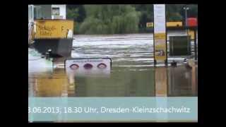 preview picture of video 'Hochwasser Dresden Laubegast Kleinzschachwitz 03.06.2013'