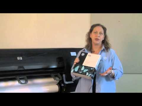 HP Designjet Z6200 Replacing Ink, Print Head and Maintenance Cartridge