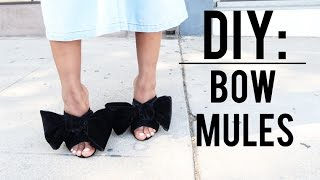 DIY: Bow Mules (Zara inspired)
