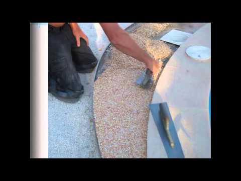 Volstandige verlegeanleitung pu-bindemittel fur Steinteppich aussen