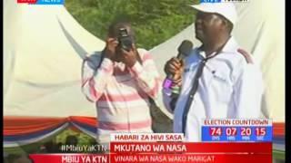 Raila Odinga aeleza jinsi alivyo ungana na Harun ole Lempaka kusaidia muathiriwa wa ghasia
