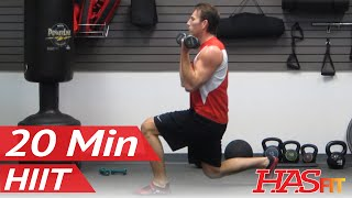 20 Min Warrior HIIT Workout for Fat Loss Part 1 of 3 - 20 Minute Workout at Home by HASfit