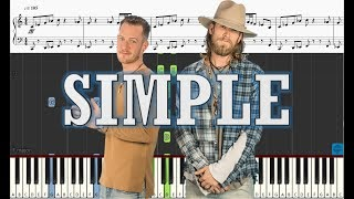 Florida Georgia Line   Simple   Piano Tutorial W Sheets
