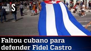Ditadura de Cuba arma protesto para defender regime autoritário, mas passa vergonha