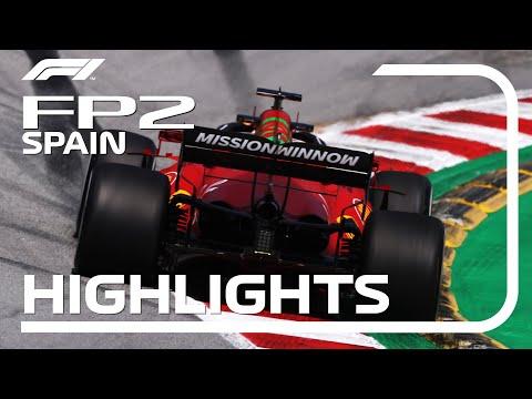 F1第4戦スペインGPフリープラクティス2のハイライト動画