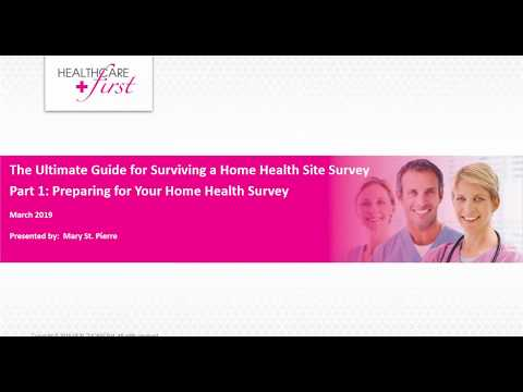 , title : 'Ultimate Guide for Surviving a Home Health Survey: Preparing for Your Home Health Survey