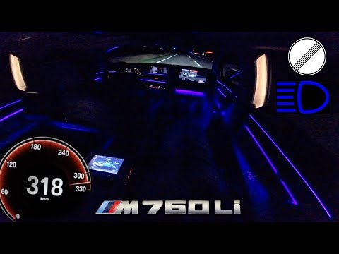 BMW M760Li PASSENGER 320km/h!! POV NIGHT DRIVE by AutoTopNL