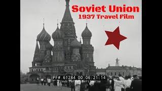 SOVIET UNION TRAVELOGUE FILM  1937  MOSCOW  LENINGRAD / SAINT PETERSBURG     SPORTS PARADE  61284