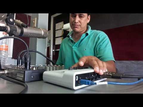Como conectar Consola al interfaz de audio