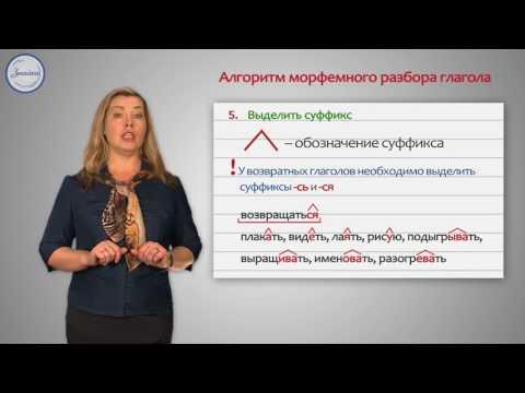 Разбор глагола по составу
