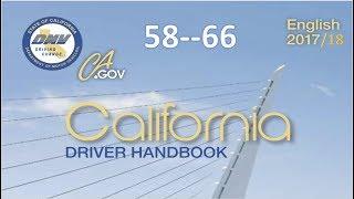 California Driver Handbook | Audio...(REAL VOICE)...DMV.....59--66