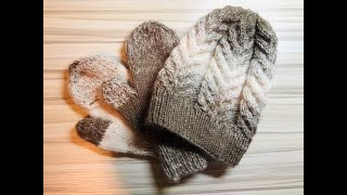 DIY KNIT Antler Cable Hat with Magic Loop Technique