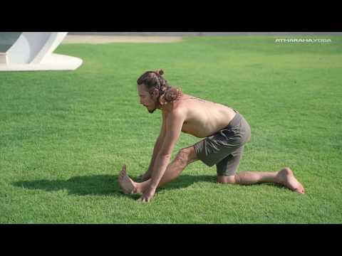 Пробуждающий комплекс Сурья Намаскар Атмарама [не классический] 1 цикл, 21 мин  [курс Йога с нуля]
