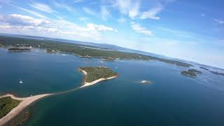 Long Range FPV Drone 1.6 Miles Out and Back over Deer Isle, Maine