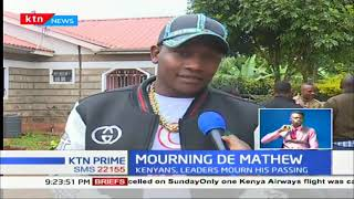 Fans, friends and family of musician John De Mathew mourn after his death