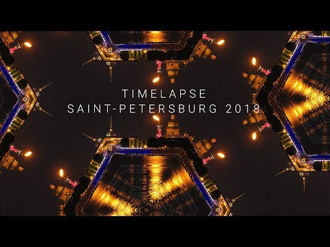 Saint Petersburg. White nights. Amazing City in TimeLapse. 4K
