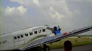 preview picture of video 'Ju52 Rundflug Oberschleissheim 2009'