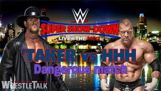 WWE RAW  Undatekor Vs Treple H  FULL HD    Most DANGEROUS MATCH    Hell in a Cell Match