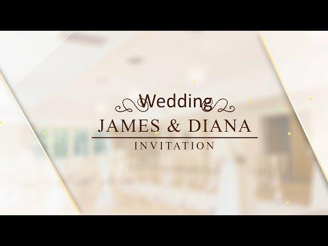 Video Wedding Invitation Luxuary