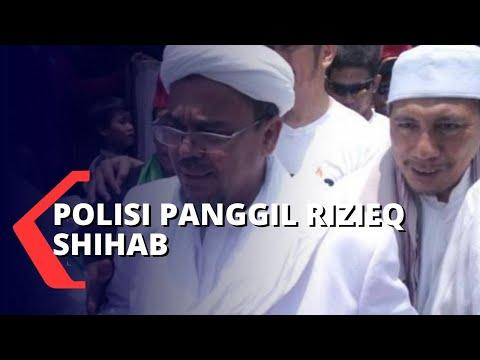 polisi panggil rizieq shihab terkait acara fpi