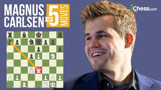 Magnus Carlsens 5 Most Brilliant Chess Moves