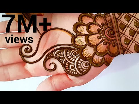 easy arabic hand mehndi design for beginners by shama art