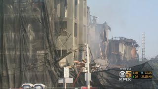 Residents Near Site Of Huge Concord Construction Site Fire Still Under Evacuation Order