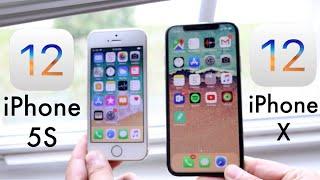 iPHONE 5S Vs iPHONE X On iOS 12! (Speed Comparison)