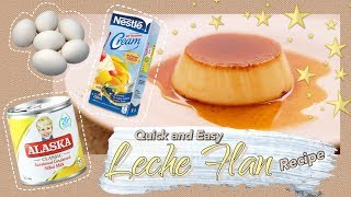 Quick And Easy Whole Egg Leche Flan 🍮 (3 Ingredients)  | WithJoshvy ✨