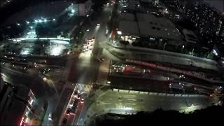 MJX B4W Max flight time footage -Night Flight Test