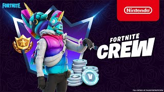 Nintendo A Llegend Enters: Llambro arrives for Fortnite Crew Members in March - Nintendo Switch anuncio