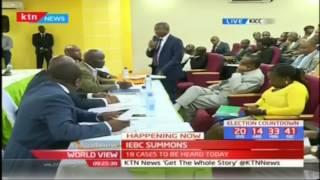 37 candidates summoned by the IEBC disciplinary chair, wafula Chebukati