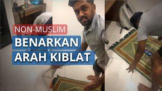 Viral Video Pemuda Non-Muslim Bantu Benarkan Arah Kiblat Rekannya, Ini Cerita Lengkapnya