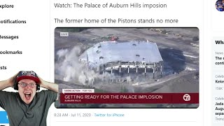 Detroit Pistons Fan Reacts To The Implosion Of The Palace Of Auburn Hills
