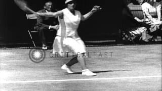 Spectators Watch As Helen Jacobs And Helen Wills Moody Duel In A Wimbledon Match ...HD Stock Footage