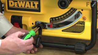 DeWALT Table Saw Repair - How to the Replace the Bevel Handle