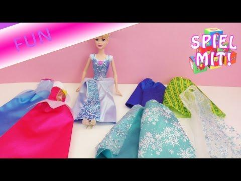 Disney  Modenschau - Cinderella probiert die Kleider und Outfits von Eiskönigin Elsa und Anna an