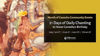 Ganesha Chaturthi 2020: 21 Days of Chanting to Honor Ganesha Birthday - Download this Video in MP3, M4A, WEBM, MP4, 3GP