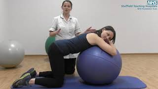 Mat and gym ball exercises with pregnancy related Pelvic Girdle Pain