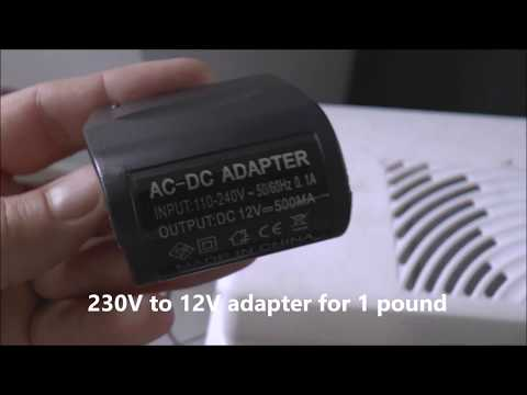230V to 12V Adapter test   - car fridge