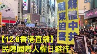 【12.8直播】民陣國際人權日遊行-黃瑞秋、Sky報導