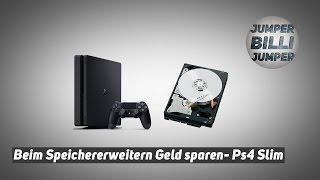 PS4 Slim - beim Speicher Erweitern GELD SPAREN