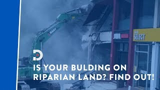 Find out if your building is on riparian land