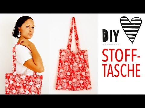Stoffbeutel nähen für Anfänger / DIY Einkaufstasche mit französischer Naht, Jutebeutel Näh-Anleitung
