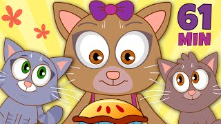 Three Little Kittens Nursery Rhymes For Children | 60 Minutes Compilation by HooplaKidz